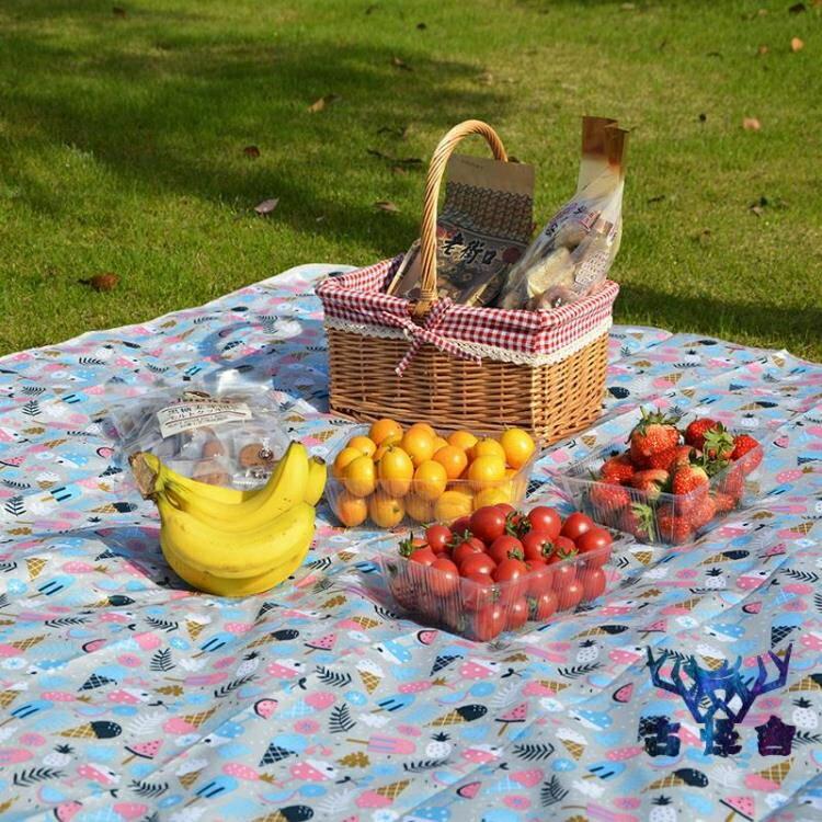 野餐墊戶外防水沙灘墊露營野炊地墊野餐布便攜簡約