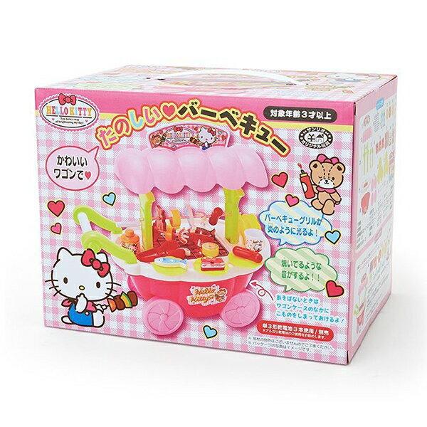 《三麗鷗Sanrio》玩具有聲BBQ車-KITTY