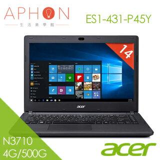 【Aphon生活美學館】ACER ES1-431-P45Y 14吋 四核心筆電(N3710/4G/500G)