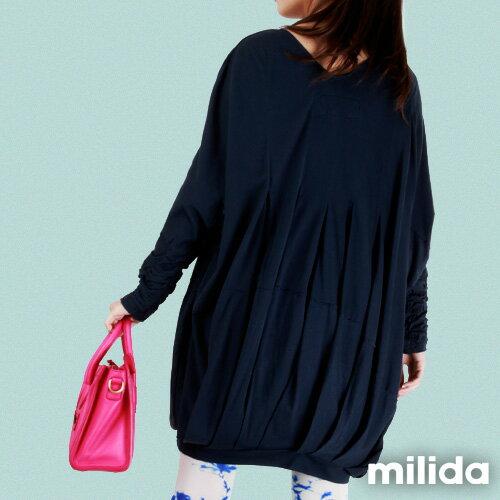 【Milida,全店七折免運】-秋冬單品-洋裝款-飛鼠袖休閒風 4