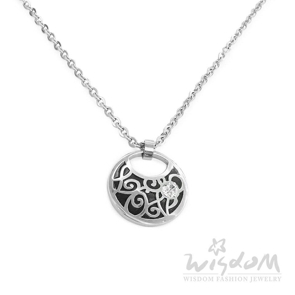 威世登時尚珠寶-唯一黑琺瑯白鋼套鍊 個性甜美 穿搭推薦 ZNB00052-1-BBHX