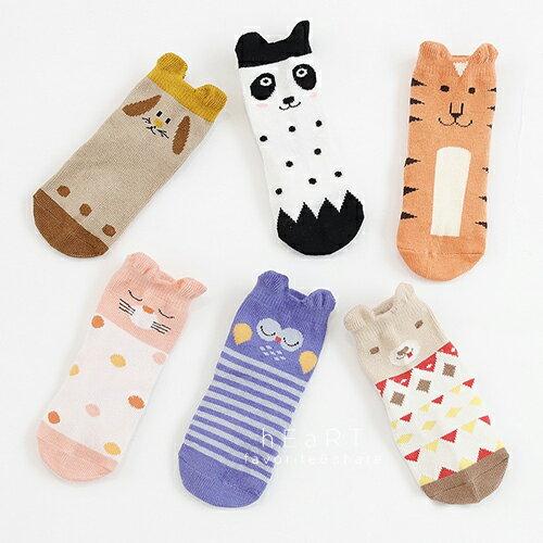 小花拉拉:【現貨】幾何拼色立體動物止滑短襪童襪動物襪止滑襪短襪