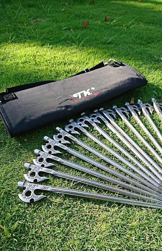 《愛露愛玩》【TKS】TKS 神斧營釘 營釘 SUS630不鏽鋼 王者之劍 台灣製 22/27/33cm