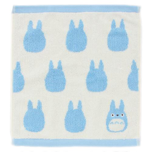 【真愛日本】16062500028純棉大方巾-藍龍貓滿版剪影藍  龍貓 TOTORO 豆豆龍 方巾 正品
