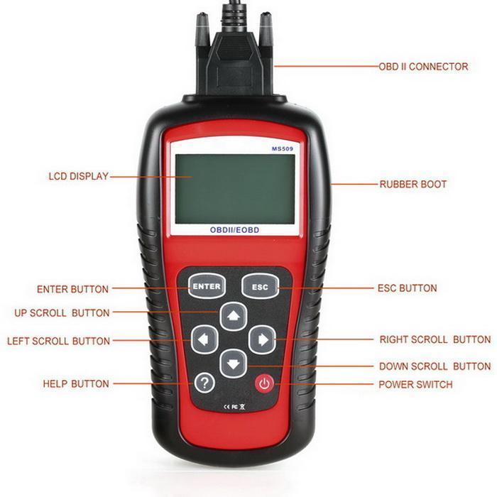 OBD2 OBDII EOBD Scanner Car Code Reader Data Tester Scan Diagnostic Tool 2