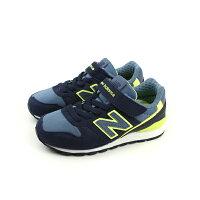 New Balance 美國慢跑鞋/跑步鞋推薦New Balance 996系列 運動鞋 跑鞋 魔鬼氈 深藍色 童鞋 KV996LVY no362