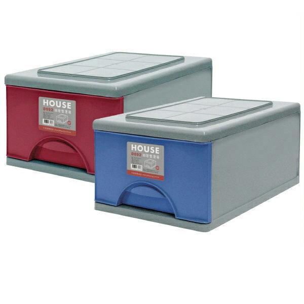 E&J【652004】Mr.box免運費,D092抽屜式整理箱9L * 3入(2色可選) 收納箱/整理箱/收納袋/衣櫃/衣櫥