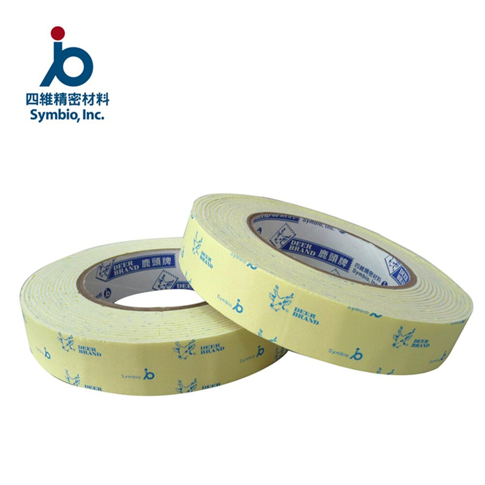 膠帶 鹿頭牌 24mm x5y 泡棉膠帶-3入【文具e指通】量販.團購