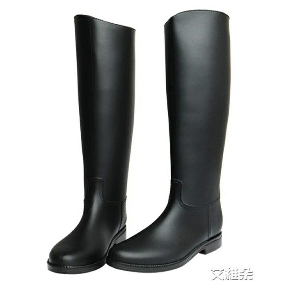 長筒雨靴 英倫雨鞋 女高筒時尚雨靴女 成人長筒水鞋女士防滑膠鞋馬丁水靴 清涼一夏钜惠