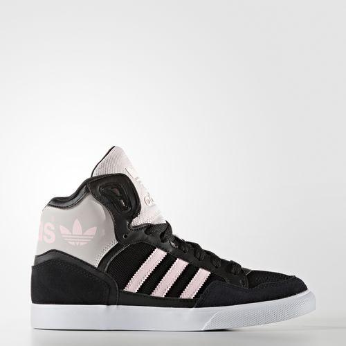 《限時特價↘6折免運》Adidas Originals EXTABALL W 女鞋 范冰冰 休閒鞋 穿搭款 黑白 黑粉 高筒 【運動世界】 AQ4798
