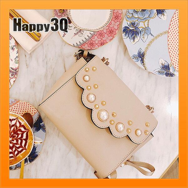 氣質包斜背包包珍珠包鍊條包透明大包鍊條包斜背包手拿包隨身-白【AAA4023】