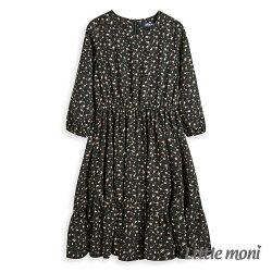 Little moni 印花洋裝-深綠