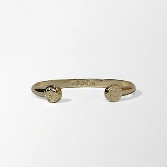 美國百分百【Abercrombie & Fitch】手鍊 手鐲 手環 飾品 金屬 電鍍 金色 C形 AF 麋鹿 H880