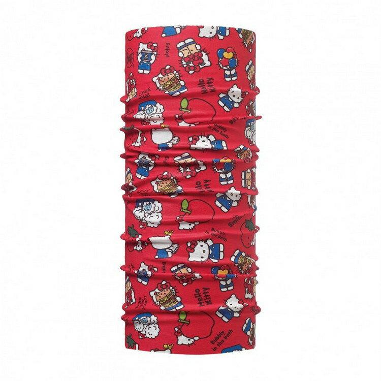路跑/健行/滑雪 [ Buff ] HELLO KITTY Jr. 西班牙 窄版排汗魔術頭巾113200 野餐野餐