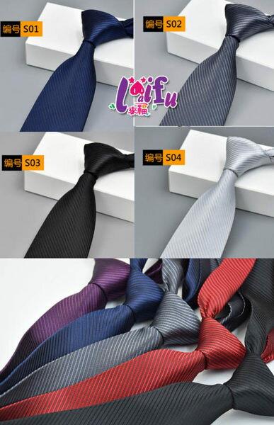 得來福領帶,k982寬8cm長49cm寬拉鍊領帶寬版拉鍊領帶免打領帶,售價170元