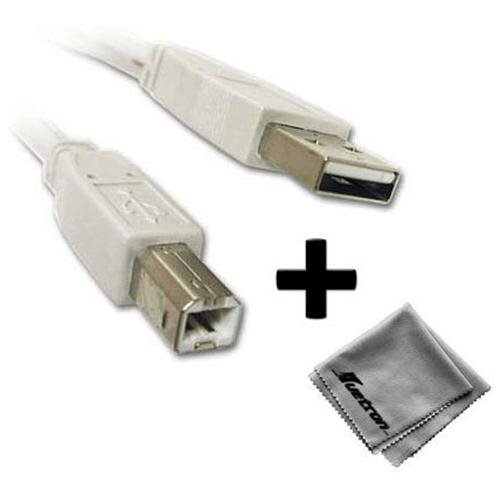 Epson XP-300 Printer Compatible 10ft White USB Cable A to B Plus Free Huetron... 0
