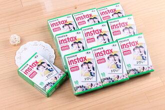 可傑 【 十盒裝 】單盒裝 空白底片 instax mini 拍立得專用 空白底片10小盒 共100張