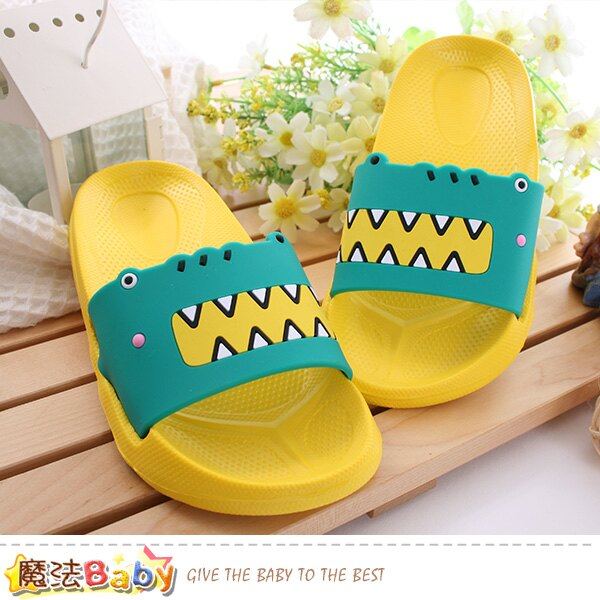 兒童拖鞋 輕量美型休閒拖鞋 魔法Baby~sd0356