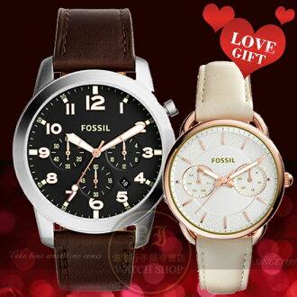 FOSSIL美國品牌甜蜜約定情人對錶FS5143/ES3954公司貨/禮物/情人節