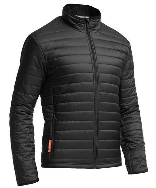 《台南悠活運動家》icebreaker 紐西蘭 男羊毛超輕暖防潑水外套 黑 IB102671-001