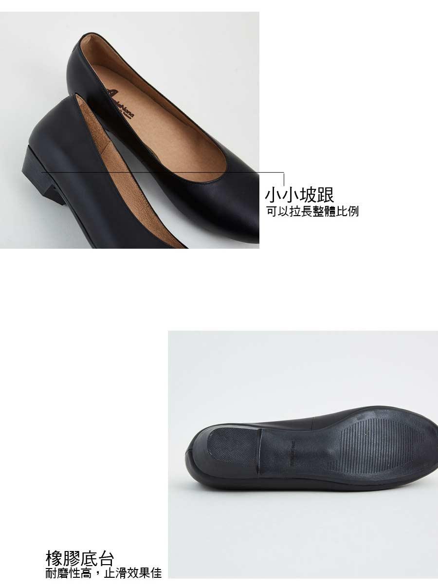 上班黑鞋。超值回饋真皮娃娃小低跟便鞋【QR62751080】AppleNana蘋果奈奈 4
