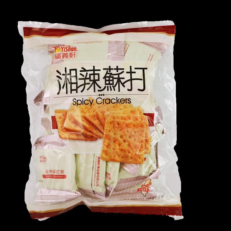 福義軒湘辣蘇打餅 320g【4710879004745】(台灣零食)