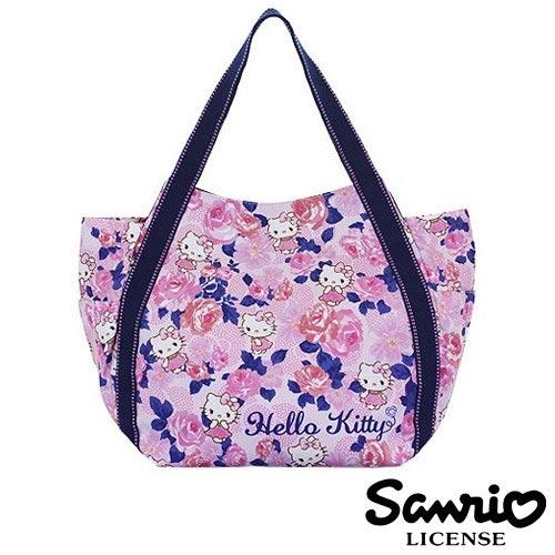 4036【日本正版】Hello Kitty X Dearisimo 帆布肩揹包 托特包 帆布包 手提袋 旅行袋 凱蒂貓 - 123367