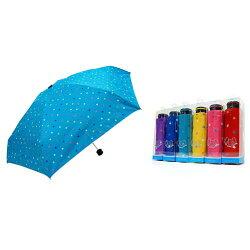 三隻小熊LA PETTY璀璨星星-52銀膠口袋傘(盒裝)-紫【愛買】