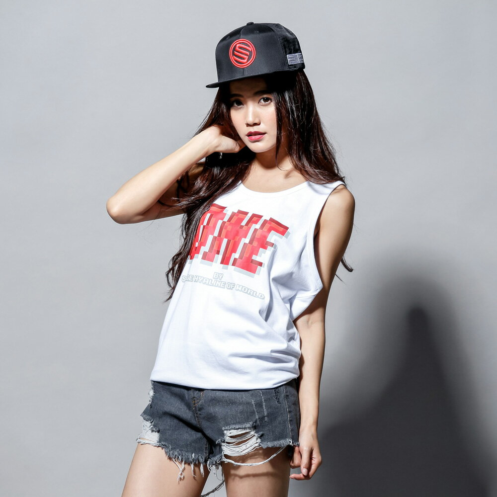 STAGEONE PIXELATE TANK TOP 黑色/白色 兩色 1