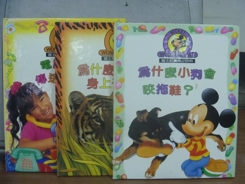 ~書寶 書T8/少年童書_PEN~為什麼小狗會咬拖鞋_為什麼老虎身上有條紋_3本合售