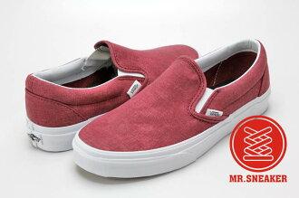【整點特賣限時5折】☆Mr.Sneaker☆ Vans Slip On 經典 復古 休閒/滑板/懶人鞋 水洗帆布 暗紅 酒紅 中性 男女款