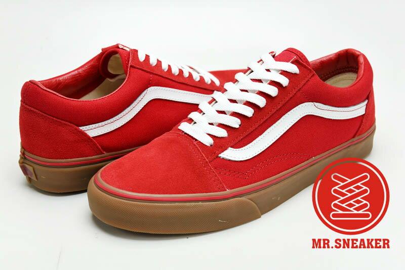 ☆Mr.Sneaker☆ VANS Old Skool 特殊/基本/百搭/經典不敗 復古/休閒/滑板鞋 低筒 帆布/麂皮/膠底 紅色 男款