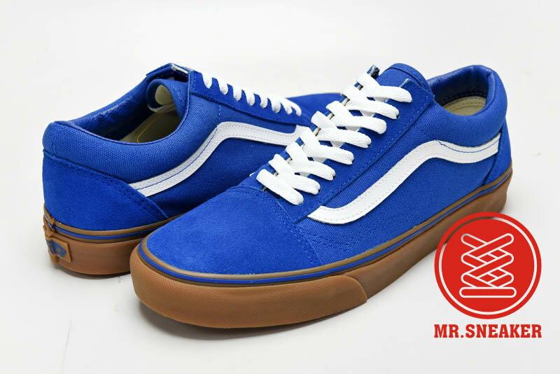 ☆Mr.Sneaker☆ VANS Old Skool 特殊/基本/百搭/經典不敗 復古/休閒/滑板鞋 低筒 帆布/麂皮/膠底 藍色 男款
