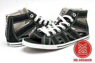Mr.Sneaker Converse Chuck Taylor All Star Gladiator MID 女款 涼鞋 高筒 帆布 休閒 羅馬 墾丁 春吶 黑色
