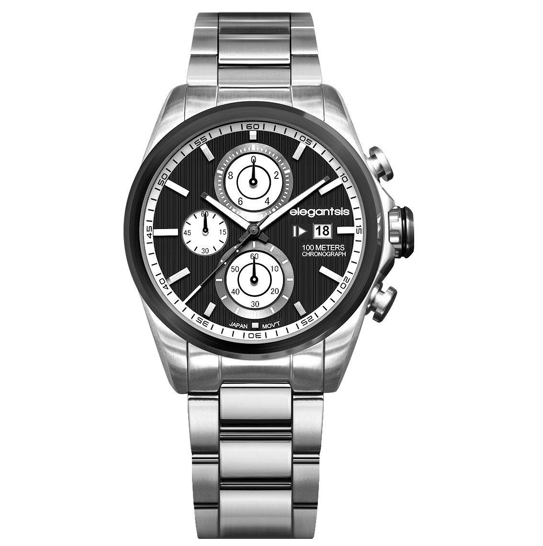 ELEGANTSIS 計時碼表石英錶(ELJT42R-6B09MA ) - 限時優惠好康折扣