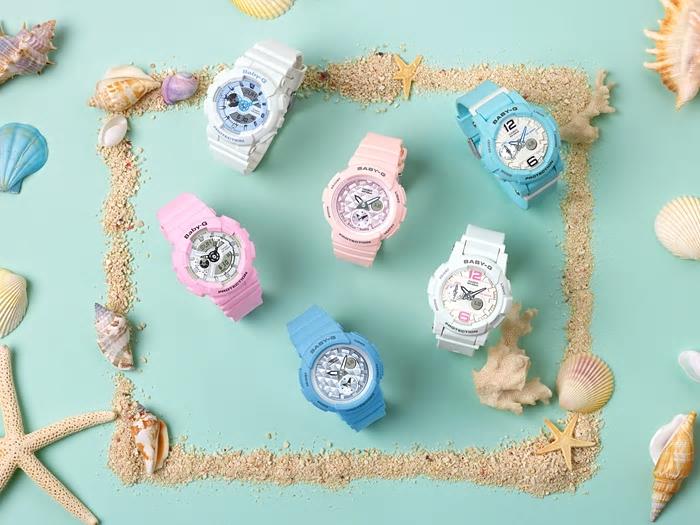 CASIO Baby-G BGA-180BE-2B 新沙灘色系女錶(水藍)