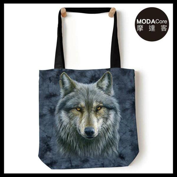 【摩達客】(預購)美國TheMountain勇戰之狼藝術環保托特包