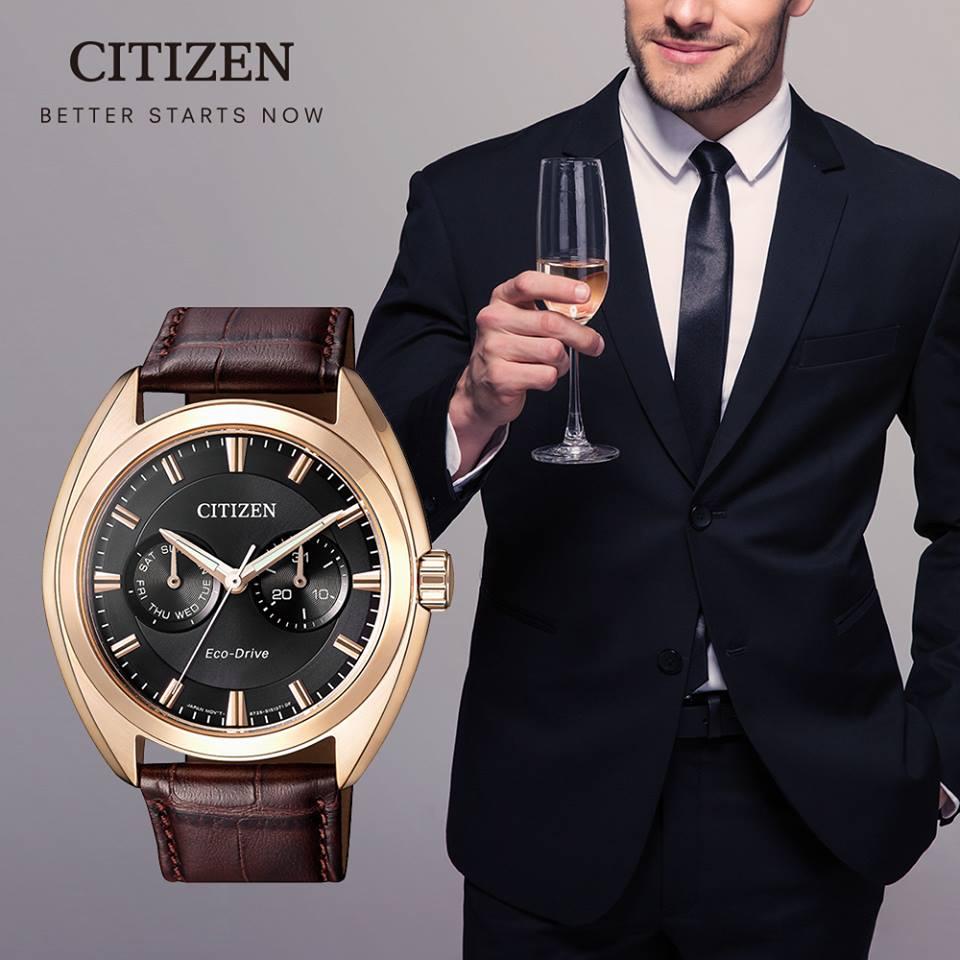 清水鐘錶 Citizen 星辰 BU4018-11H Eco-Drive 光動能 都會時尚優質腕錶 黑面 43mm