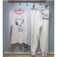 史努比Snoopy商品推薦,史努比上衣推薦到Gelato Pique同款睡衣軟綿綿可愛snoopy保暖家居服上衣+長褲套裝♥寶兒私櫥♥【17G120403】