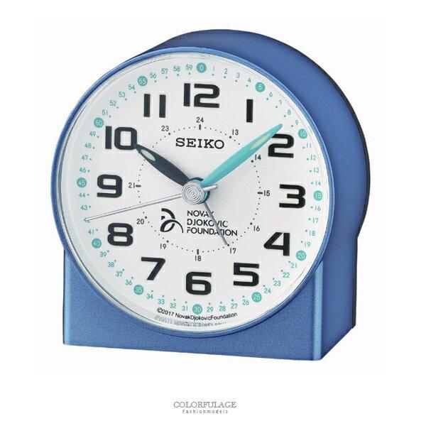 鬧鐘 SEIKO精工滑動秒針藍色鐘【NV79】原廠公司貨