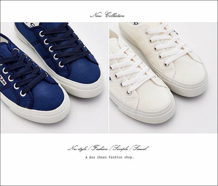 格子舖*【KB051】MIT台灣製 嚴選時尚布面 基本款校園素面 綁帶布面鞋/帆布鞋 2色 2