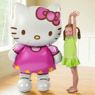 ★超葳★特大 立體 KITTY 凱蒂貓 鋁膜 鋁箔 兒童 生日派對 佈置 婚慶 裝飾 氣球