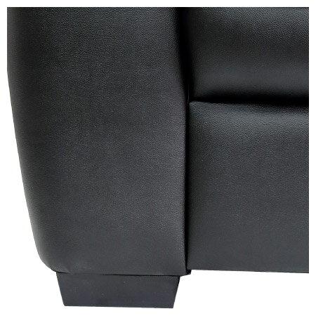 ◎(OUTLET)半皮2人用沙發 STONE BK 福利品 NITORI宜得利家居 9
