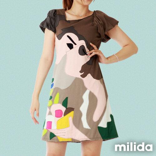 【Milida,全店七折免運】-斜領氣質經典款洋裝 3