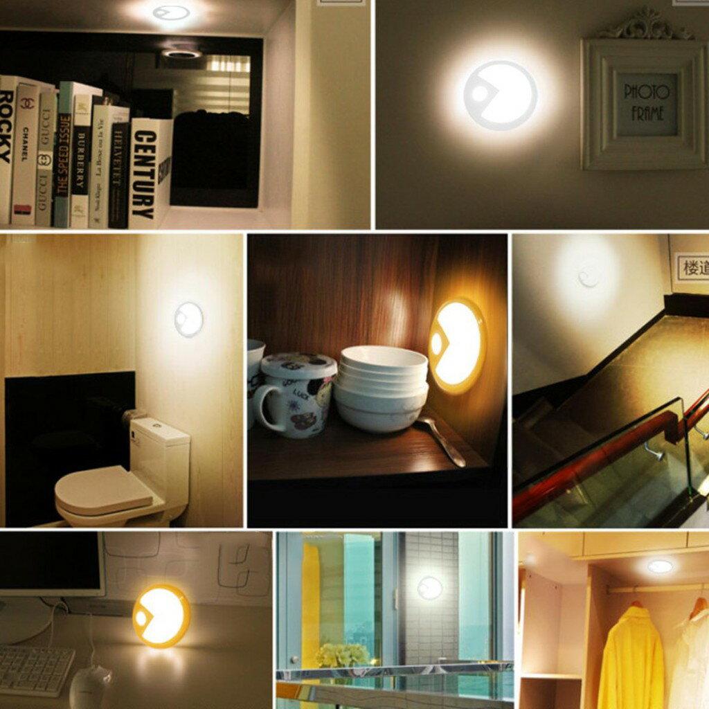 【全館免運】吃豆豆人體光控感應燈充電款白光 CS燈具