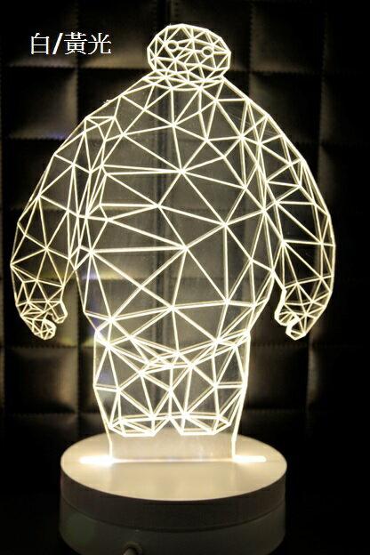 LED 造型 3D立體燈 杯麵造型 可變換3種燈色 高雅白色 半木質底座 質感佳 小夜燈 氣氛燈 生日禮物 聖誕禮物