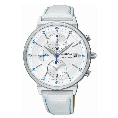 SEIKO精工獨立風采三眼時尚腕錶7T92-0VN0WSNDV29P1