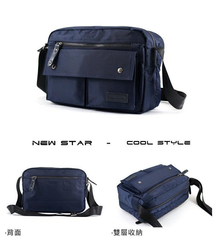 日系防水側背包包  (機能 雙口袋 雙層 斜背包 porter風 NEW STAR BL89 3