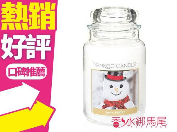 YANKEECANDLE香氛蠟燭JACKFROST雪人623g(大)◐香水綁馬尾◐