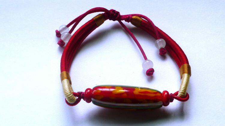 【蜻蜓雅築】編結琉璃單珠手環